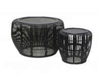 Juno 2 Set Rattan Tables