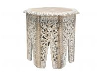 Gypsy Wooden Carved Side Table