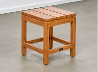 Bairo Teak Square Dining Table and 4 Stools