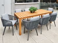 Sorrento Teak Table and 8 Diva Chair Setting