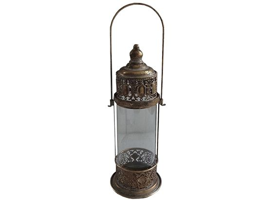 Elemental Series Round Glass Lantern