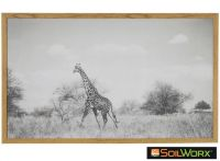 Sabi Wall Decor Giraffe Landscape