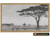 Sabi Wall Decor Zebra Landscape