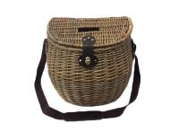 Willow Fisherman's Basket with Shoulder Strap