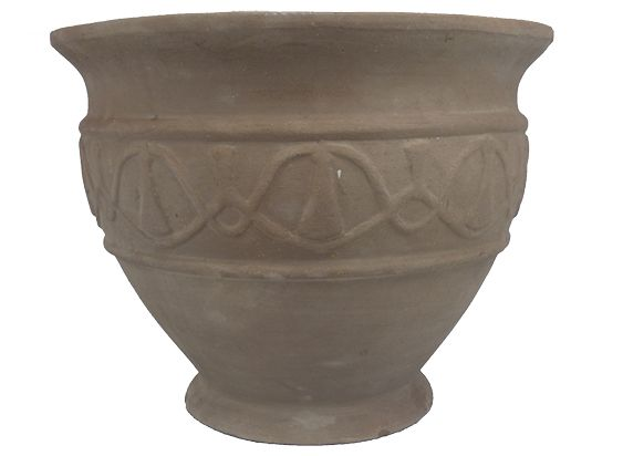 Antique Terracotta Motive Pot