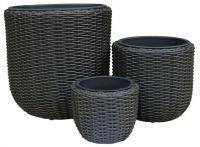 Wicker U Shape Pot