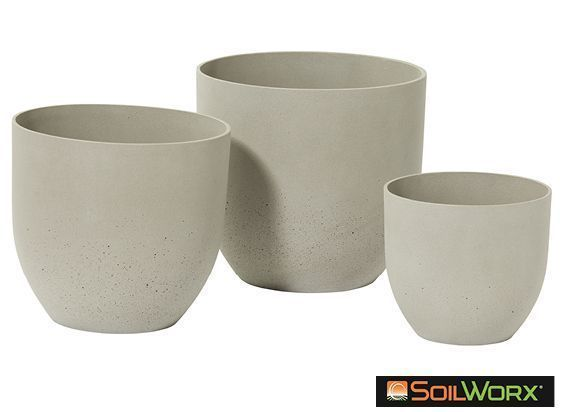 Zoe Planter Grey Medium