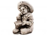 Sitting Boy Reading Figurine