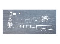 Out Station Brushed Pewter Wall Art